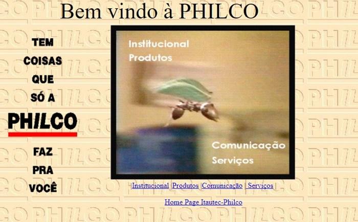 Página da Philco