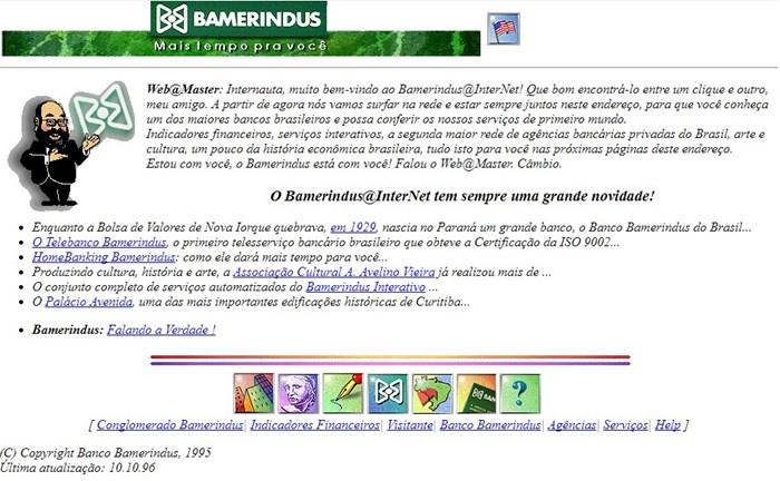 Página da Bamerindus
